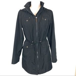 Liz Claiborne | EUC Hooded Cinch Waist Raincoat